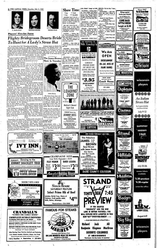 McGilligan in CT - July 5, 1969