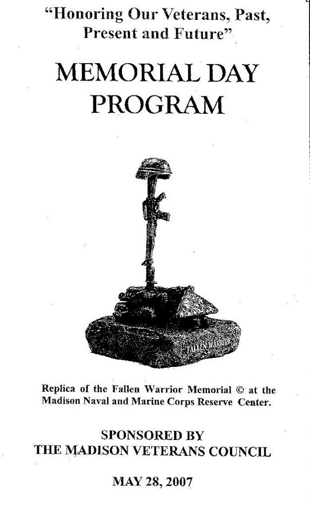 Memorial Day Program 225w